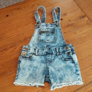 Jordache bib shorts, size 7/8